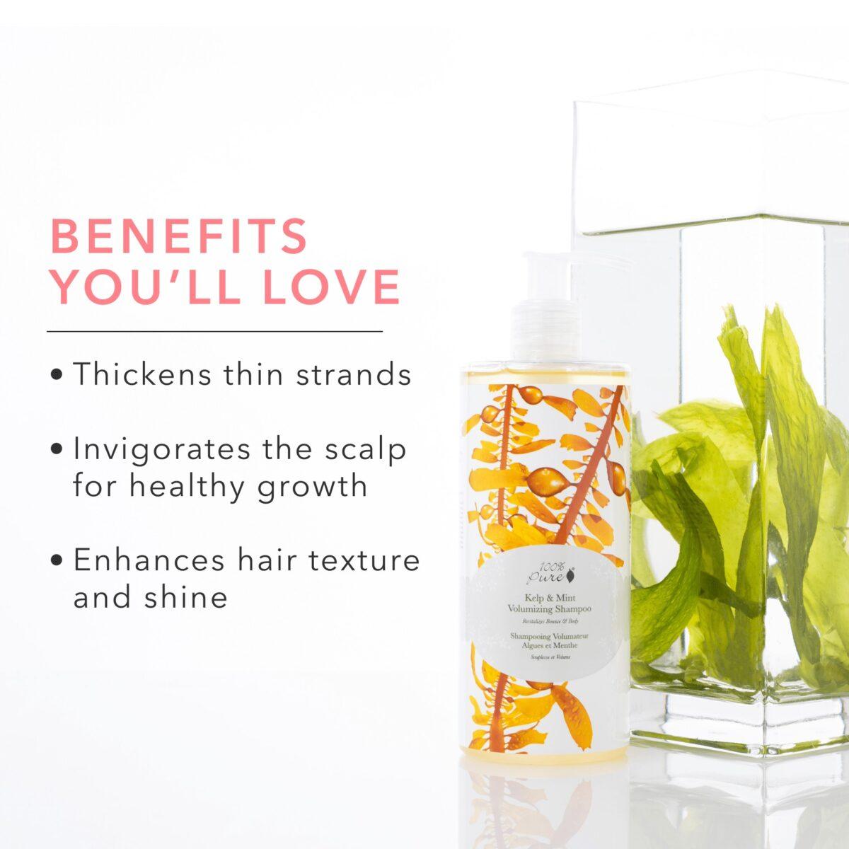 Volumizing Shampoo – Kelp & Mint Fine Hair Hair &Amp; Body
