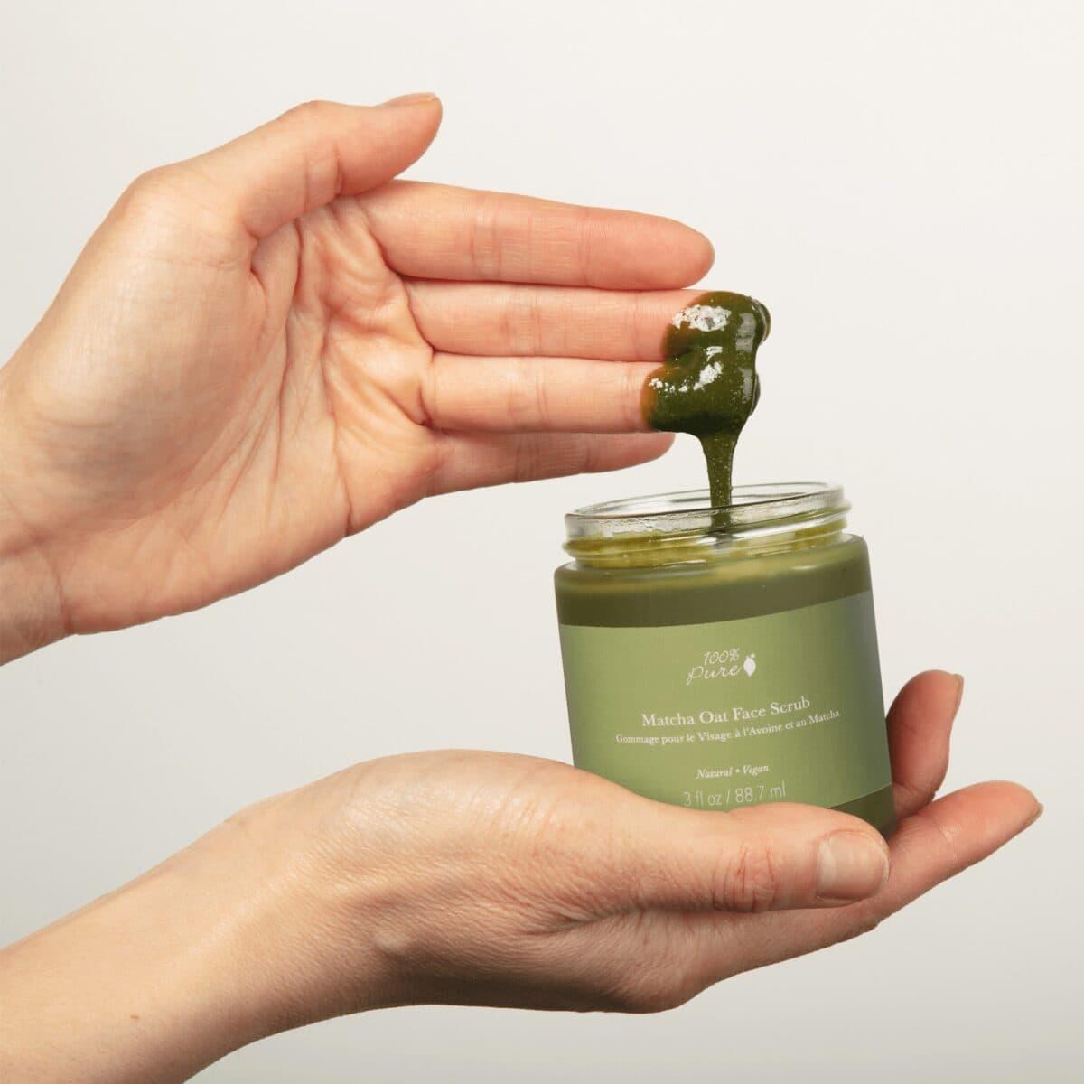 Matcha Oat Face Scrub – Exfoliate Brighten Scrub &Amp; Mask